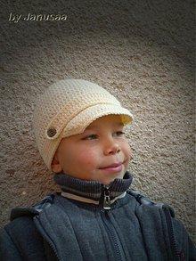 Detské čiapky - Háčkovaná šiltovka ... - 1886039