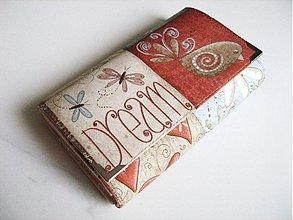 Peňaženky - Motýlí tanečky a ptačí snění -15 X 10,5 :-) - 1894787