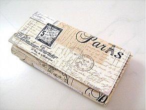 Peňaženky - Paříž - velká na spoustu karet - 1894850