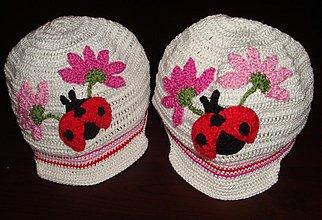 Detské čiapky - Lienka so šiltom - 1895703