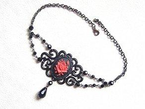 Náhrdelníky - vampire rose red - 1895936