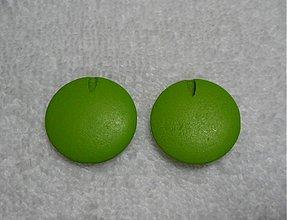 Korálky - Drevené placky 2,5cm-1ks (zelená) - 1898095