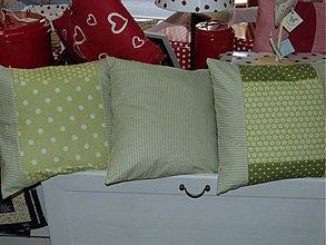 Úžitkový textil - Zelené - kombinované vankúšiky - 1898205