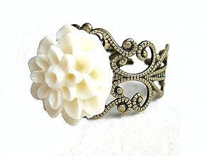 Prstene - biely kvet - 1899470