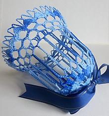 Dekorácie - Vianočný zvonec- veľký, modrý - 1903589