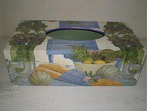 Krabičky - Zásobník na servítky zátišie - 1903668