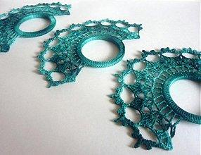 """Úžitkový textil - """"Obrúčky"""" na servítky-smaragdová zelená - 1903724"""