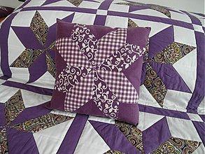 Úžitkový textil - patchworková obliečka na vankúšik - 1904169