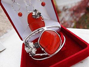 Sady šperkov - Sada červená  - 1905677