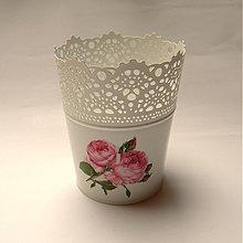Dekorácie - Kvetináč - ruže - 1909295