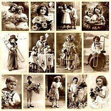 Papier - Vintage nažehlovacie obrázky 3 - 1911884