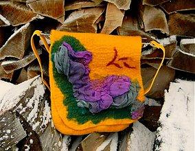 Veľké tašky - Melódia jesene-plstená kabela - 1912295