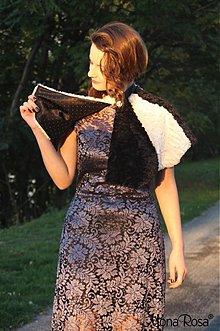 Šály - DAY&NIGHT - kožešinová pelerína - 1912587