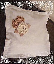 Úžitkový textil - Vankusik s kvietkami a s dusou... - 1913613