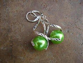 Náušnice - Točí sa mi točí (svetlo zelená akryl) - 1920528