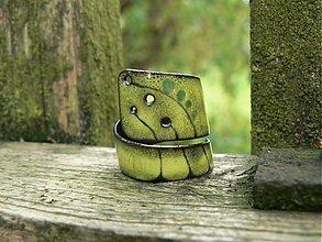 Prstene - Zelený děravý - 192060