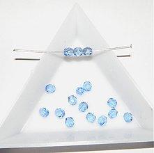 Korálky - 0147 Ohňovky - modré 1 - 4mm - 10 ks - 192367