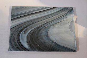Suroviny - Sklo na spekanie trojfarebne čierno bielo priehľadné - 1936539