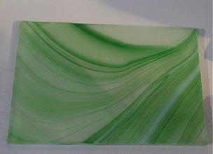 Suroviny - Sklo trojfarebné zeleno bielo priehľadné - 1936950