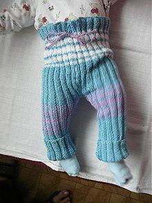 Detské oblečenie - Štrikované detské kaťata modro-fialovo-biele - 1937346