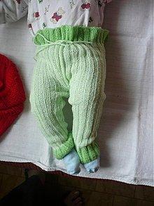 Detské oblečenie - Štrikované detské kaťata zelenkavé - 1938019