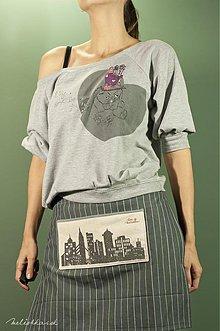 Úžitkový textil - Polovičná kuchynská zástera MESTO - ženská (001) - 1939804