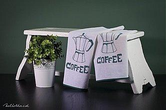 Úžitkový textil - Ľanová utierka COFFEE zelená (003) - 1939927
