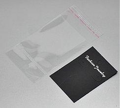 Obalový materiál - Kartička na náušnice - 10 ks (Bk001) - 1940219