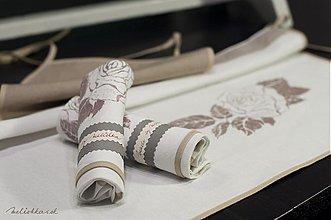 Iné oblečenie - Darčekový set RUŽA biela - 1940280