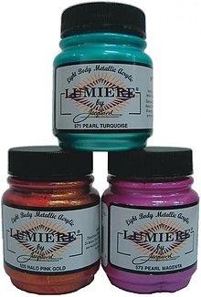 Farby-laky - Metalické krycie farby LUMIERE - odtiene podľa farebnice  - 1941162