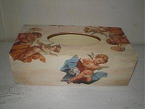 Krabičky - Zásobník na servítky anjel - 1944281