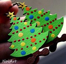 Náušnice - Vianočný stromček. Verzia mini :O) - 1944337