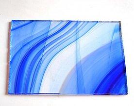 Suroviny - Sklo modro bielo priehľadné - 1945473