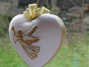 Dekorácie - Srdce s anjelom - 1951407