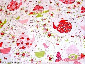 Textil - Strawberry Tea Party - 1953286