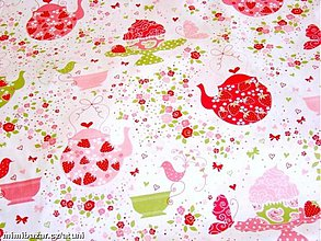 Textil - Strawberry Tea Party - 1953286