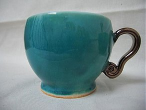 Nádoby - Tyrkysáčka na kafé - 1955366
