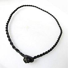 Komponenty - Náhrdelník pletený hodvábny / čierny - 1957377