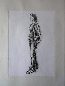 Kresby - Kresba postavy - veľ. A2 - priamy predaj - 1959378
