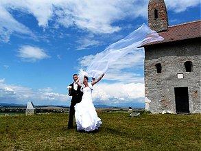 Šaty - dvojvrstvové svadboné šaty Zuzi /biele/ - 1962269
