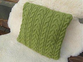 Úžitkový textil - pletené vankúše - 1965349