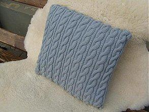 Úžitkový textil - pletené vankúše - 1965481