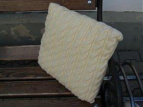Úžitkový textil - pletené vankúše - 1965509