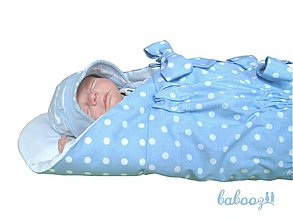 Textil - Perinka POLKA modro biela UNI - 196825