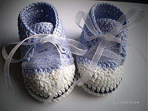 Topánočky - Háčkované tenisky ... Filajkové ... - 1968830