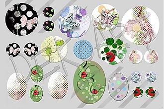 Materiál ručne robený - Motívy na šperky č.18-akcia na všetky motívy-4+1zdarma - 1969161
