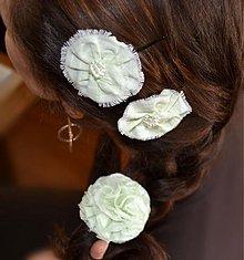 Ozdoby do vlasov - Bledo zelené kvietky - 1971554