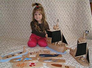 Hračky - Pirátska loď skladačka 1,5-násobná veľkosť - 1972509
