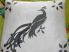 Úžitkový textil - vankúšik páv - 1973431