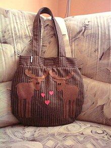 Veľké tašky - Zamilovaný jeleň brown - 1974094